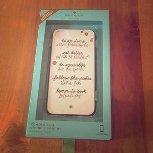 NWT Kate Spade ♠️ iPhone 7/8 hardshell case